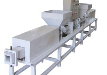 Single-head wood block machine