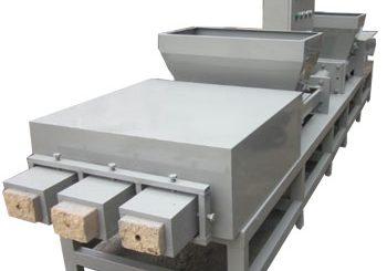 Three-head wood pallet block machine