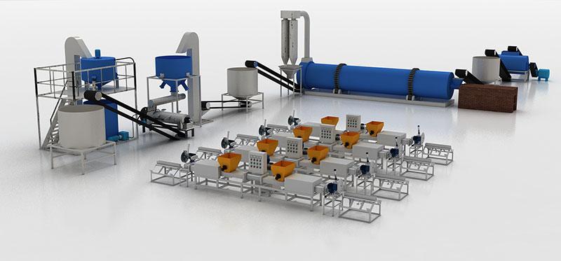 automatic wood pallet block production line